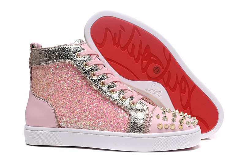 design intemporel cc626 4c1d4 Réduction de prix basket louboutin femme rose - www ...